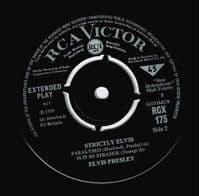 ELVIS PRESLEY Strictly Elvis EP Vinyl Record 7 Inch RCA Victor 1964
